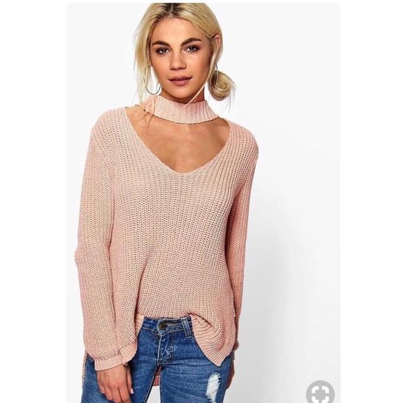 122637f86ec1 Boohoo Sweaters | Choker Oversized Sweater Size Sm | Poshmark